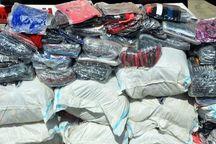 توقیف محموله میلیاردی پارچه قاچاق در ماهشهر