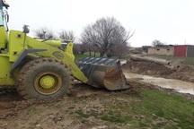خطر سیلاب از روستای فیض آباد تکاب رفع شد