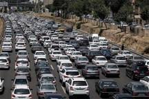 ترافیک در مسیر بهشت سکینه کرج  سنگین است