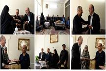 دیدار نجفی با خانواده های شهیدان لطفی و جانباز عسگری