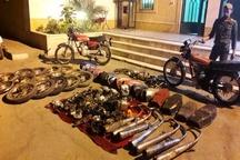 کشف 20 دستگاه موتورسیکلت سرقتی در شادگان