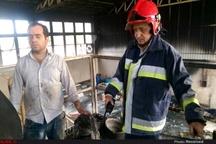 حریق سوله تولید مواد آتش زا در اهواز  حادثه تلفات جانی در پی نداشت