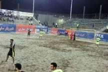 دومین پیروزی خانگی تیم شهریار ساری در لیگ برتر فوتبال ساحلی رقم خورد