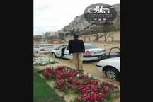 لحظه جاری شدن سیل در شیراز و فرار مردم