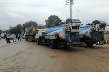 اعزام ماشین آلات از استان های دیگر به خوزستان  بازگشایی مسیل های پخش سیلاب در سوسنگرد
