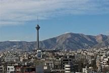 کیفیت هوای تهران با شاخص 90 سالم است