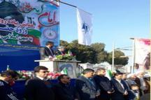 مراسم نمادین بازگشت امام خمینی(ره) به وطن در کلاله برگزار شد