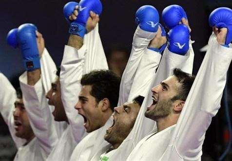 دومین قهرمانی پیاپی تیم کاراته مردان ایران
