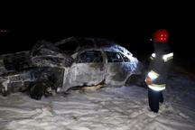 خودرو واژگون شده در جهرم، یک کشته داشت