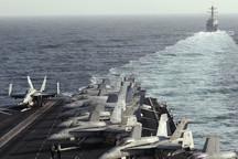 خروج کشتی جنگی اسپانیا از ناوگروه آمریکایی لینکلن