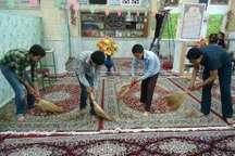 غباروبی 1400 مسجد هرمزگان در آستانه ماه رمضان