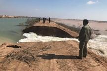 کانال انتقال آب کرخه به اهواز شکست