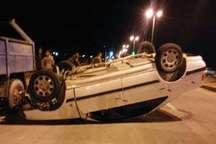 واژگونی پژو پارس در دیر بوشهر یک کشته و 2 مصدوم برجای گذاشت