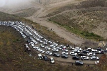 ترافیک ۴۸ ساعته در جاده های شمال+ عکس