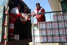 یک هزار بسته غذایی هلال احمر قزوین به نقاط سیل زده شمال ارسال شد