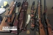 کشف 4 قبضه سلاح از شکارچیان متخلف در آبیک