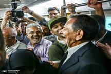 حضور اسحاق جهانگیری در متروی تهران + عکس