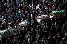 مراسم نمادین تشییع شهدای کربلا در قزوین برگزار شد