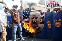 آتش اعتراض ها ضد ترامپ خاموش نمی شود+ تصاویر