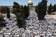 200هزار فلسطینی دومین نماز جمعه ماه رمضان را در مسجد الاقصی اقامه کردند