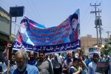 راهپیمایی مردم شهیدپرور و جامعه کارگری دزفول در روز جهانی قدس+ تصاویر