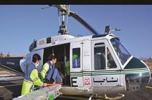 اورژانس هوایی سبزوار به مصدومان تصادف زنجیره ای سمنان خدمات رسانی کرد