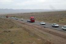 ترافیک جاده ای استان یزد از 48 ساعت گذشته رو به افزایش است