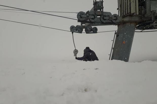 پیست اسکی فریدونشهر تعطیل است