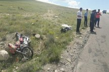 واژگونی موتورسیکلت درناحیه مرزی گنبد یک کشته برجا گذاشت