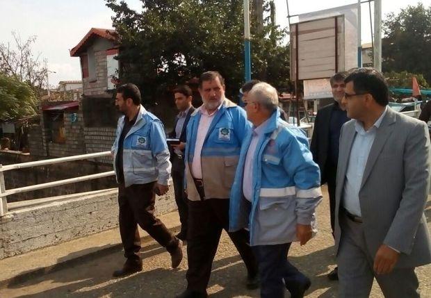 رئیس سازمان مدیریت بحران از پل کیازنیک املش بازدید کرد