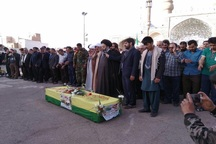 پیکر 'سید عابدین موسوی' شهید مدافع حرم در آران و بیدگل تشییع شد