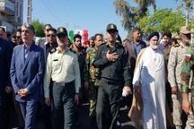 پیکر مطهر 2 شهید حادثه تروریستی چابهار تشییع شدند