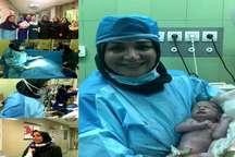 تولد نخستین نوزاد روش PRP  در بیمارستان فاطمیه همدان