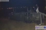 نجات ۱۱ سرنشین اتوبوس واژگون شده در سیل جاده کاشمر