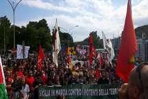 برگزاری تظاهرات علیه ترامپ و اجلاس سران جی 7 در ایتالیا