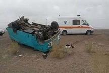 واژگونی مینی بوس در ارومیه یک کشته و 7 مصدوم بر جای گذاشت