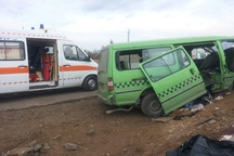 واژگونی خودرو در قزوین 9 مصدوم برجای گذاشت