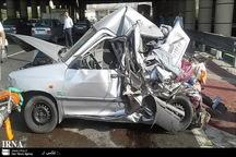 تصادف خاور با پراید در بزرگراه آزادگان تهران 4 مصدوم داشت