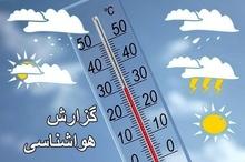 آسمان استان صاف تا نیمه ابری همراه با افزایش نسبی دما