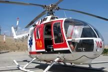 بیمار منطقه عشایری با بالگرد اورژانس سبزوار نجات یافت