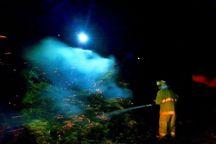 انبار کاه در یکی از روستاهای قوچان آتش گرفت