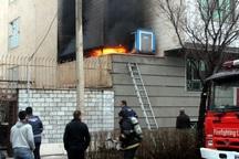 آتش سوزی یک منزل مسکونی در بجنورد مهار شد
