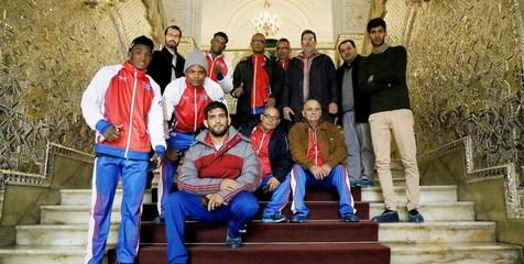 بازدید تیم ملی کشتی فرنگی کوبا از کاخ گلستان و موزه المپیک