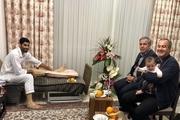 عرب به عیادت محمد انصاری رفت + عکس