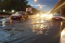 پل فجر مشهد به دلیل آب افتادگی مسدود شد