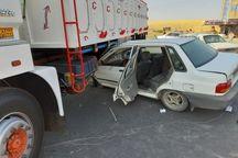 ۶ نفر در حادثه رانندگی محور بوکان - میاندوآب زخمی شدند
