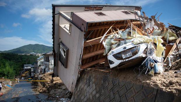 فاجعه بارترین سیل در ژاپن+ تصاویر