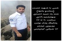 مراسم یادبود تکنسین شهید حمید احمدی در اهواز برگزار میشود