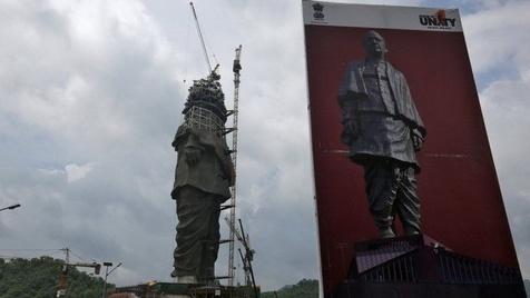 ابعاد باورنکردنی بلندترین مجسمه جهان+ عکس
