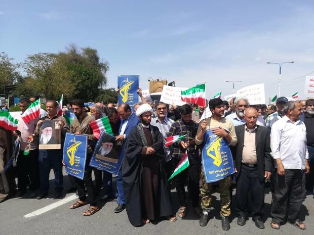 نمازگزاران خوزستانی با محکومیت آمریکا از سپاه حمایت کردند